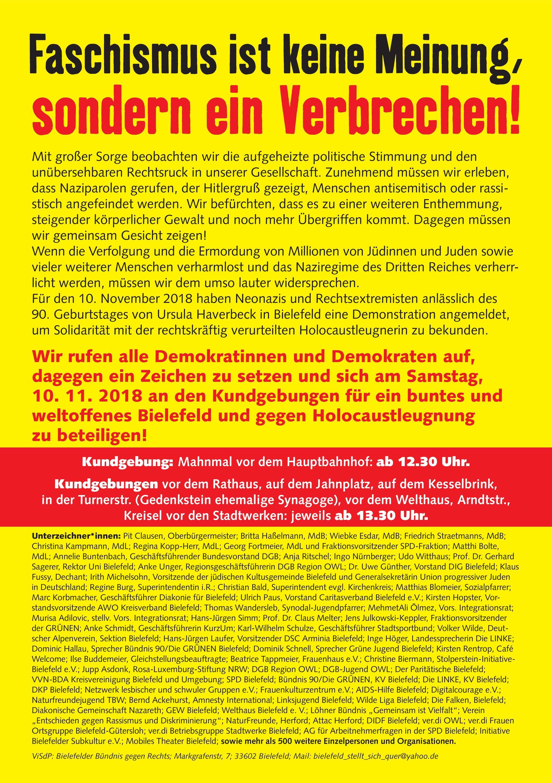 Demo gegen Rechts 10.11.2018