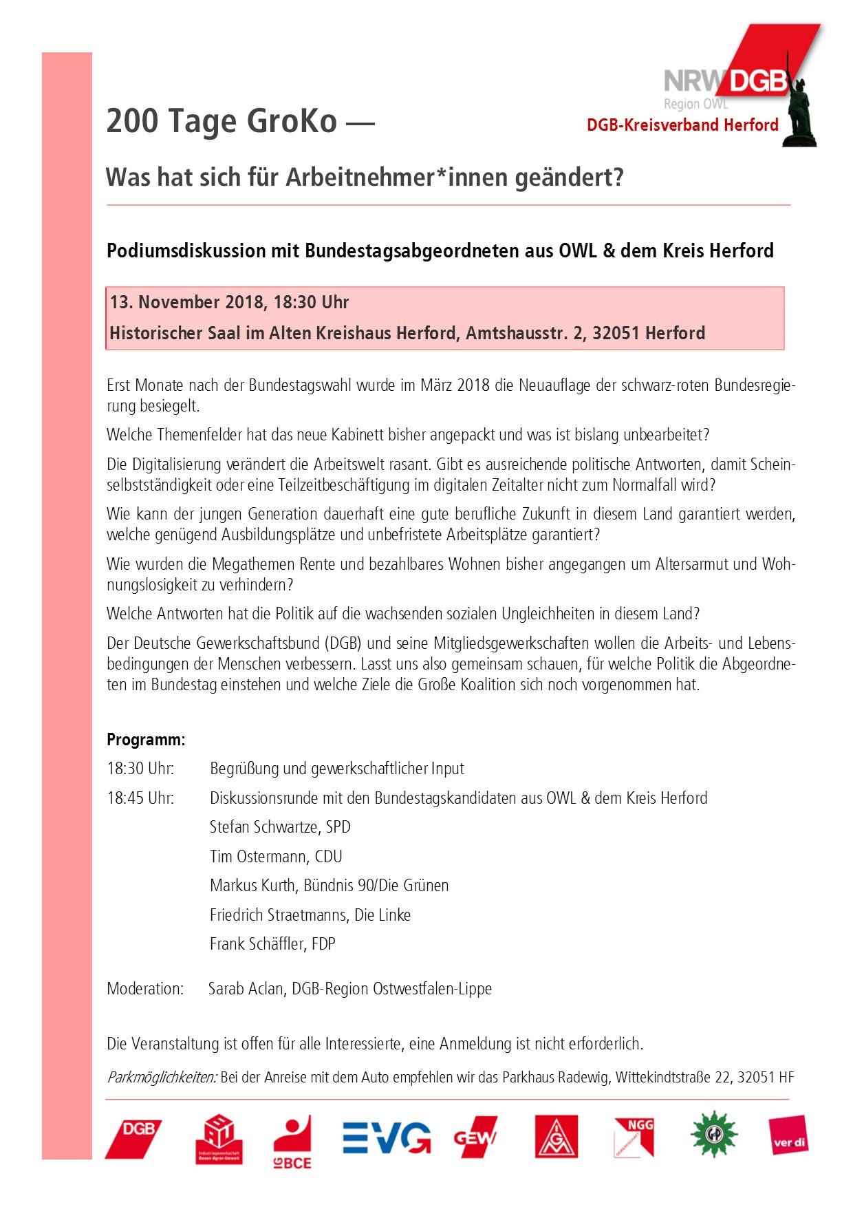 Einladung 200 Tage GroKo 13.11.2018