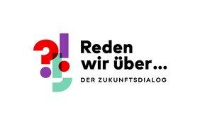 """Logo Zukunftsdialog """"Reden wir über"""""""